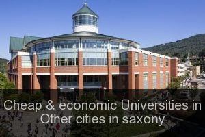 Cheap & economic Universities in Other cities in saxony